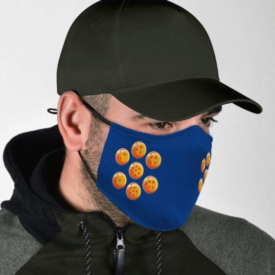 Dragon Ball Z Earth Seven Dragon Balls Blue Face Mask