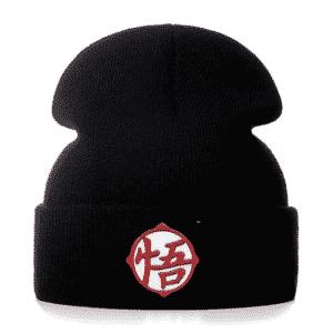 Dragon Ball Z Embroidered Goku Kanji Black Streetwear Beanie