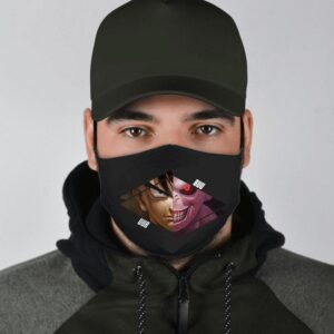 Dragon Ball Z Fierce Uub VS Evil Majin Buu Black Face Mask