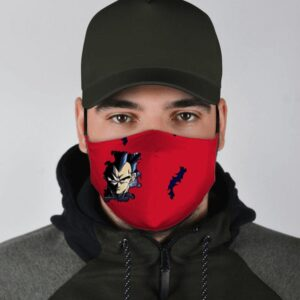 Dragon Ball Z Fierce Vegeta Torn Design Red Face Mask