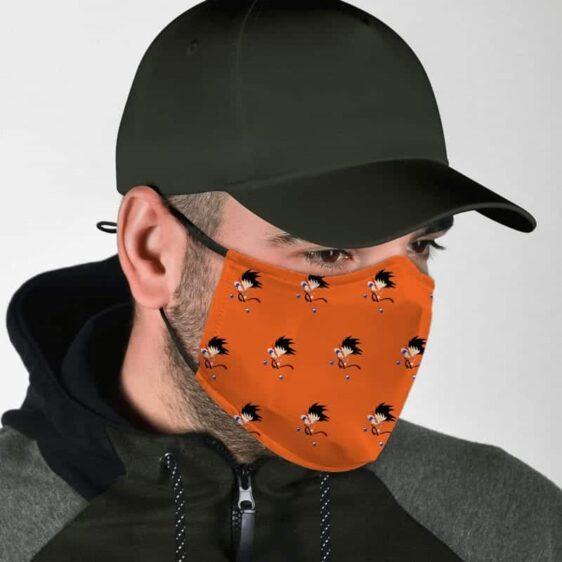 Dragon Ball Z Kid Goku Power Pole Pattern Orange Face Mask