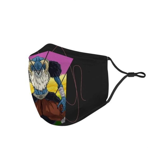 Dragon Ball Z Planet-Eater Moro Art Black Face Mask