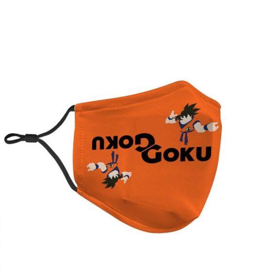 Dragon Ball Z Son Goku Fighting Stance Orange Face Mask