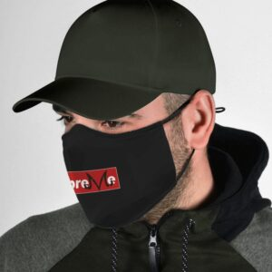 Dragon Ball Z Supreme Majin Symbol Evil Mark Black Face Mask