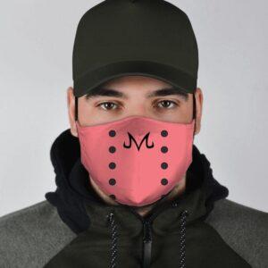 Dragon Ball Z Villain Majin Buu Evil Sigil Pink Face Mask