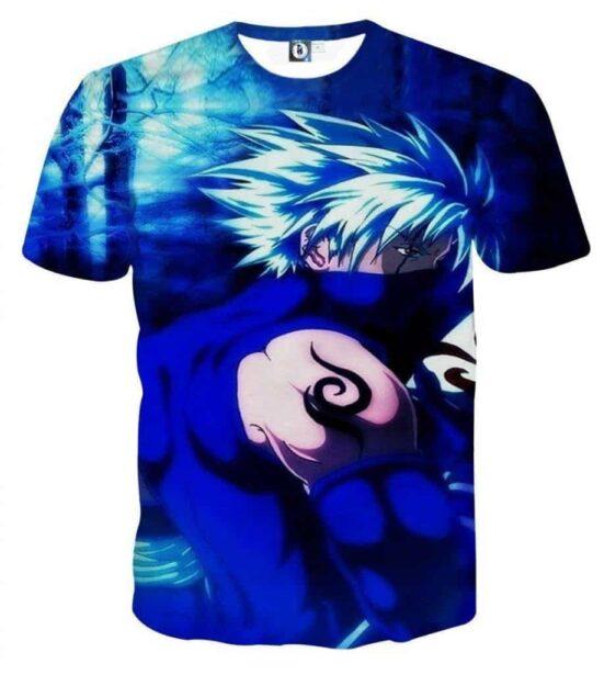 Hatake Kakashi Naruto Japanese Anime Powerful Art T-Shirt