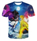 Incredible Battle Naruto vs Sasuke Ultimate Fight Fashionable T-shirt