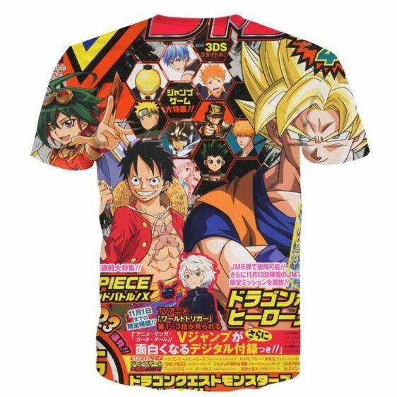 Japanese Style 3D One Piece DBZ Naruto Bleach Anime Dope T-Shirt