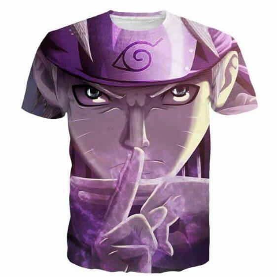 Jutsu Angry Naruto Leaf Village Symbol HD Quality 3D Print T-Shirt