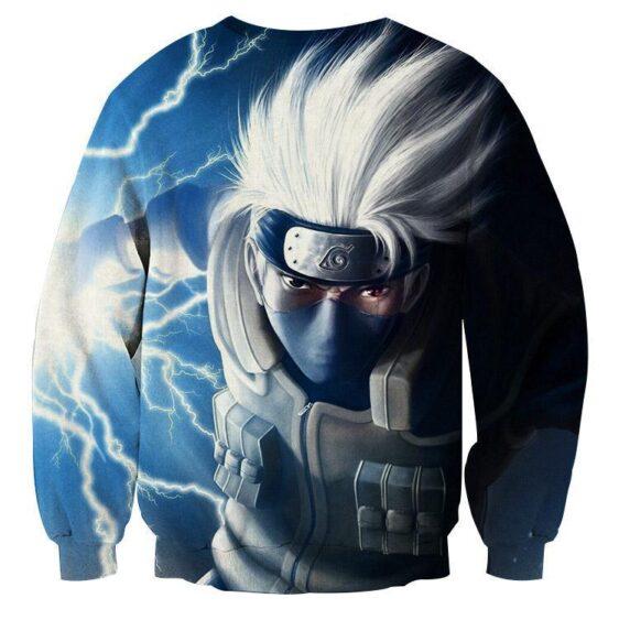 Kakashi Hatake Chidori Lightning Cut Vibrant Anime Sweatshirt