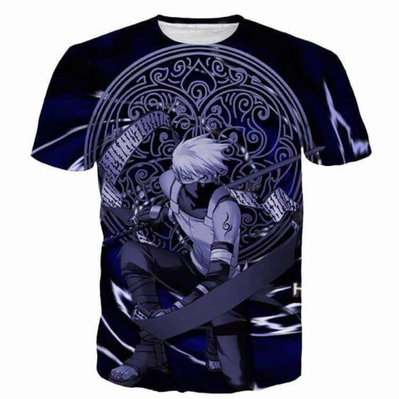 Kakashi Hatake Naruto Dark Blue Religion Mystic Stylish 3D T-Shirt