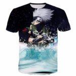 Kakashi Hatake in the Water Galaxy Space Naruto Unique Stylish 3D T-Shirt