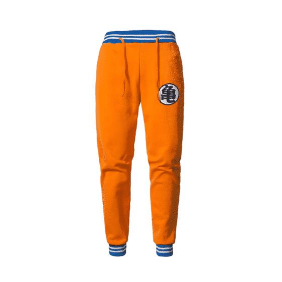 Master Roshi Training Kanji Symbol Orange Joggers Sweatpants