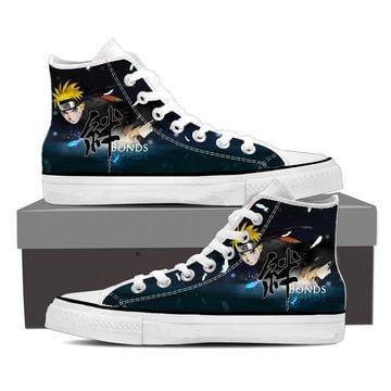Naruto and Sasuke Friendship Bond Navy Blue Sneakers Shoes