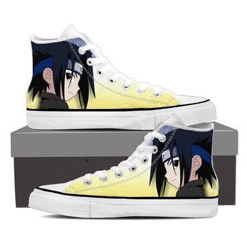Naruto Anime Cute Chibi Uchiha Sasuke Yellow Sneakers Shoes