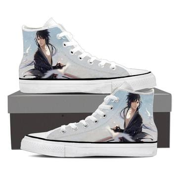 Naruto Anime Handsome Izuna Uchiha Sky Blue Sneakers Shoes