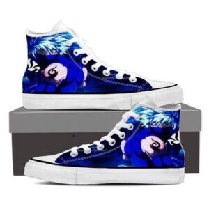Naruto Anime Powerful Hatake Kakashi Blue 3d Sneakers Shoes
