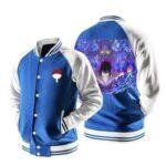 Naruto Anime Sasuke Mangekyo Susanoo Blue Baseball Jacket