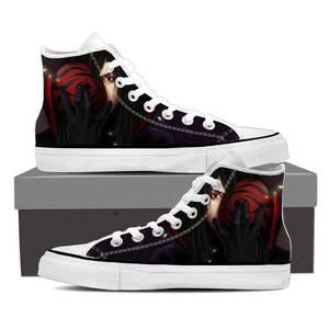 Naruto Anime Uchiha Madara Mask Design Black Sneakers Shoes