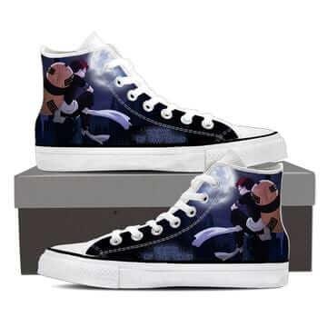 Naruto Anime Young Garaa the Sand Ninja Blue Sneakers Shoes