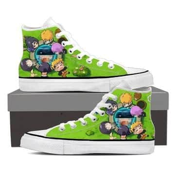 Naruto Character Cute Chibi Style Full Print Sneakers Shoes