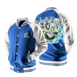 Naruto Chiyo Sunagakure Puppet Brigade Blue Baseball Jacket