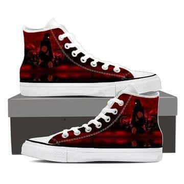 Naruto Itachi Uchiha Akatsuki Ninja Dope Red Sneakers Shoes