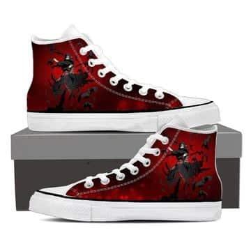 Naruto Itachi Uchiha Magic Jutsu Akatsuki Red Sneakers Shoes