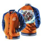 Naruto Jiraiya Sage Mode Rasengan Orange Baseball Jacket