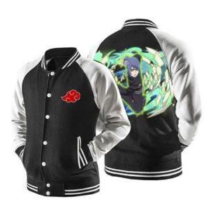 Naruto Konan Akatsuki Powerful Kunoichi Black Baseball Jacket