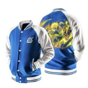 Naruto Minato Namikaze The Yellow Flash Blue Baseball Jacket