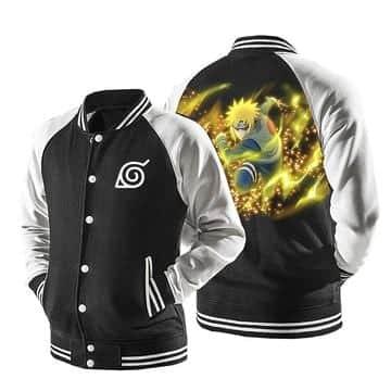 Naruto Minato Namikaze Yellow Flash Hokage Baseball Jacket