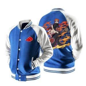 Naruto Nagato Six Paths of Pain Puppet Blue Baseball Jacket