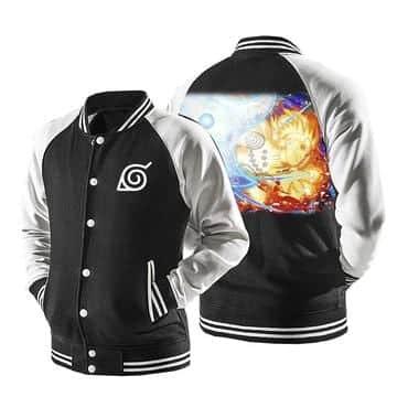 Naruto Nine-Tails Chakra Mode Rasenshuriken Baseball Jacket