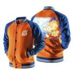 Naruto Nine-Tails Mode Rasenshuriken Orange Baseball Jacket
