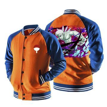 Naruto Obito Ten-tails Jinchuriki Form Orange Baseball Jacket