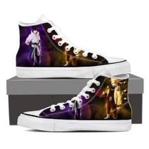Naruto Sage Mode and Sasuke Legendary Ninjas Sneakers Shoes