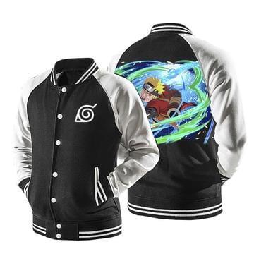 Naruto Sage Mode Powerful Wind Rasenshuriken Baseball Jacket