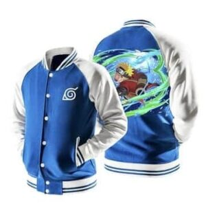 Naruto Sage Mode Wind Rasenshuriken Blue Baseball Jacket