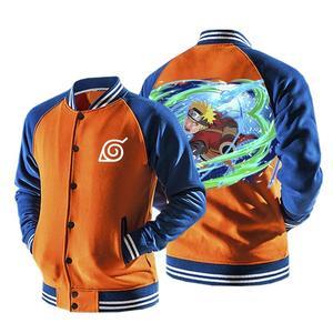 Naruto Sage Mode Wind Rasenshuriken Orange Baseball Jacket