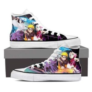 Naruto Sasuke Sakura Team 7 Shippuden Anime Sneakers Shoes