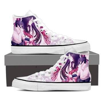 Naruto Shippuden Anime Romantic Sasuke Uchiha Sneakers Shoes