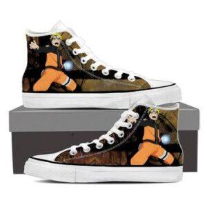 Naruto Shippuden Ninja Hero Rasengan Brown 3d Sneakers Shoes