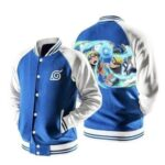 Naruto Shippuden Strong Odama Rasengan Blue Baseball Jacket