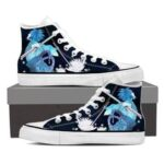 Naruto Shippuden Uchiha Sasuke Katana Blue 3d Sneakers Shoes