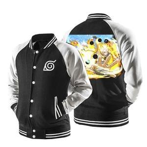 Naruto Six Path Sage Mode Form Konoha Symbol Baseball Jacket