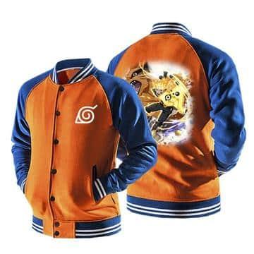 Naruto Six Path Sage Mode Form Kurama Orange Baseball Jacket
