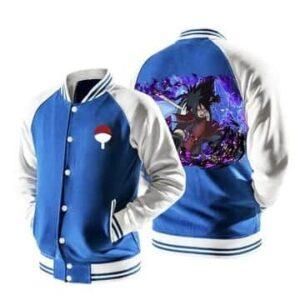 Naruto Uchiha Madara Uchiha Clan Logo Blue Baseball Jacket