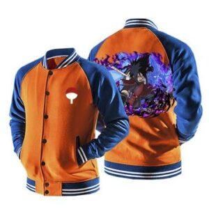 Naruto Uchiha Madara Uchiha Clan Logo Orange Baseball Jacket