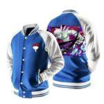Naruto Uchiha Obito Ten-Tails Jinchuriki Blue Baseball Jacket